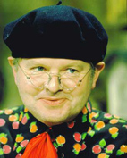 Benny Hill in a beret