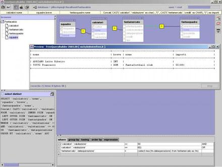FreeQueryBuilder/SQLeonado screenshot