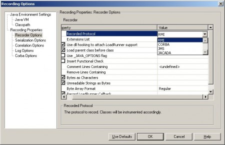 LoadRunner Java Record-Replay protocols