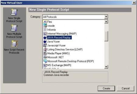 LoadRunner's Java Record-Replay vuser
