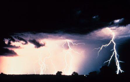Lightning strike (Image ID: nssl0012, National Severe Storms Laboratory)