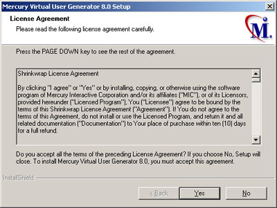 LoadRunner 8.0 license