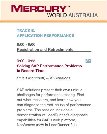 Mercury World Australia presentation - Solving SAP Performance Problems in Record Time