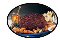 A particularly fine roast ham