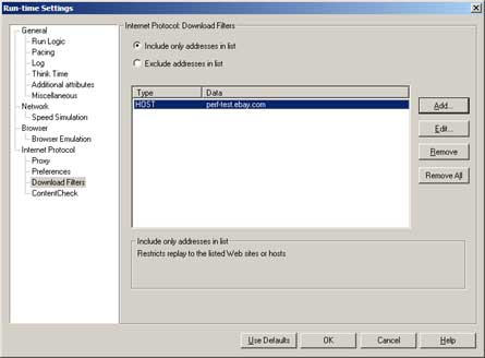 Internet Protocol: Download Filters