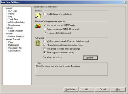 Internet Protocol: Preferences