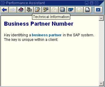 SAP performance assistant