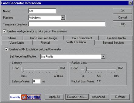 Shunra WAN Emulator