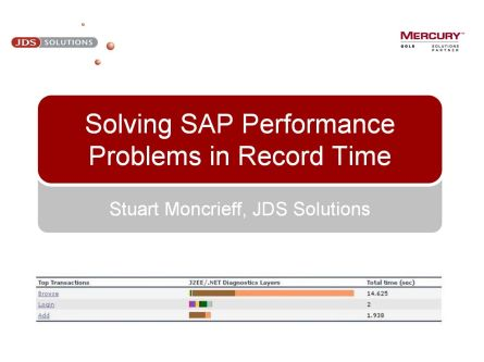Solving SAP Performance Problems in Record Time