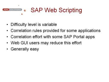 SAP Web Scripting