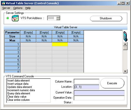 Mercury Virtual Table Server (VTS)