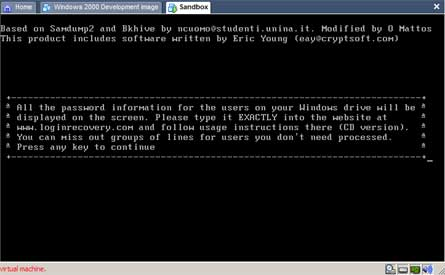 VMware password recovery