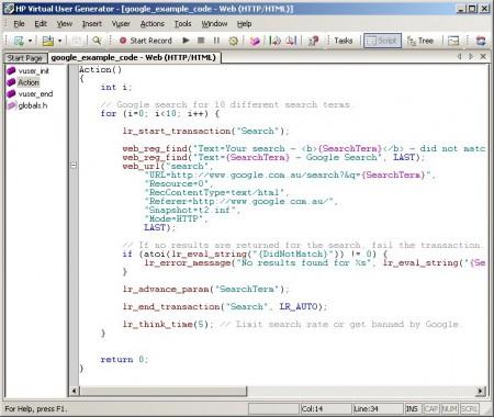 VuGen syntax highlighting example