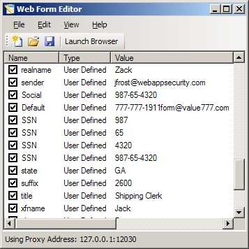 WebInspect - Web Form Editor