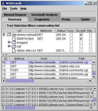 WebScarab screenshot