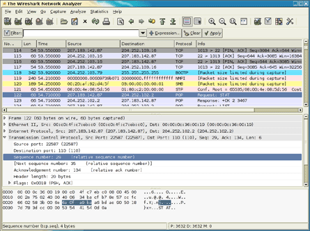 Wireshark - a free packet sniffer