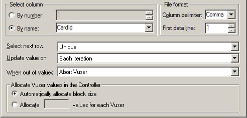 Unique file parameter options