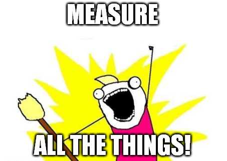 Measure all the things meme