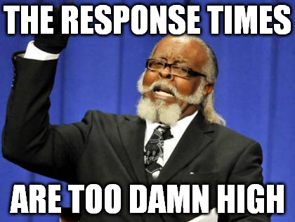 Response times are too damn high meme