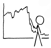 XKCD stick figure with chart